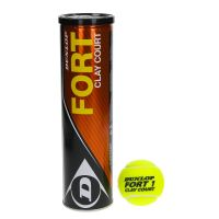 Dunlop Fort Clay Court - Tube de 4 balles